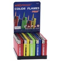 50 Sturmfeuerzeuge Color Flame Farb Mix