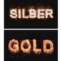 Figurenlichter SILBER zu GOLD T1 NC Raucharm 60 sec. 25 Stück
